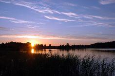 Zachód słońca Jezioro Schodno / Sunset at Schodno's lake #sunset #lake #scenery