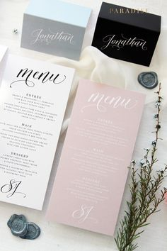 Gold Wedding Menu Card Printable Wedding Menu  Bella Script Diy