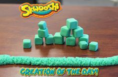 Skwooshi Creation of the Day #green #cubes #mold #sculpture #sculpt #play #toys #skwooshi  Join the fun on Facebook for exclusive giveaways https://www.facebook.com/Skwooshi