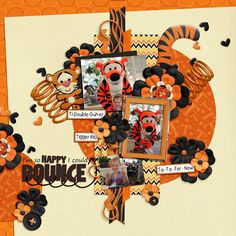 Adorable Tigger layout by branan5; Crystal Palace; So Happy - MouseScrappers - Disney Scrapbooking Gallery