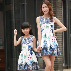 Fashion Family Matching Outfit Mother and Daughter Matching Clothes Mom and Daughter Matching Dresses Family Clothing MO08