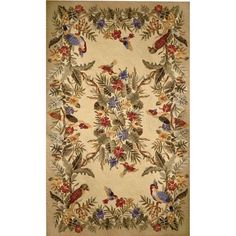 I pinned this Savoy Collection Parrot Rug in Yellow from the Marcella Fine Rugs event at Joss and Main!