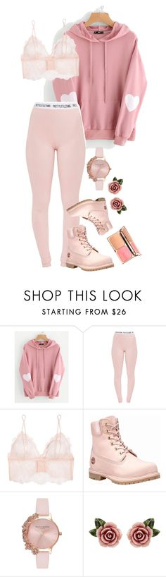 """""""Head dances"""" by clea69 ❤ liked on Polyvore featuring WithChic, Pretty Little Thing, Anine Bing, Timberland, Olivia Burton and Dolce&Gabbana"""