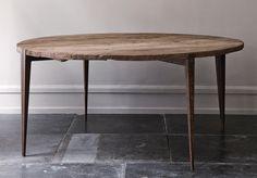 oliver gustav dining table, rough modern