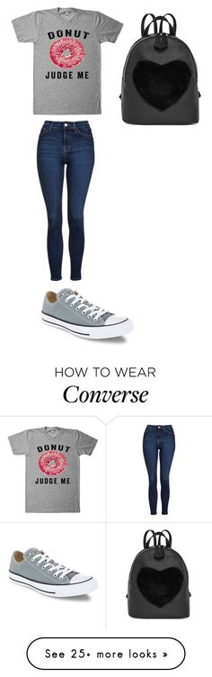 """Без названия #1105"" by gazieva-dinara on Polyvore featuring Topshop and Converse"