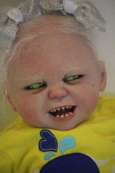 Halloween demon Reborn Baby  READY TO SHIP by TwistedBeanStalkNurs, $350.00