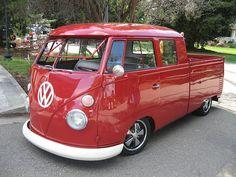 VW Bus doublé cab pick up vintage Vintage Volkswagen Bus, Volkswagen Bus Camper, T1 Bus, Volkswagen Transporter, Vw T1, Kombi Pick Up, Combi Split, Truck Covers, Combi Vw