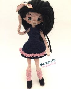 Amigurumi doll by Margareth the doll maker.
