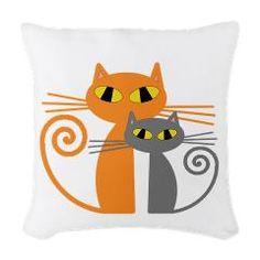 Orange Cat, Grey Cat Woven Throw Pillow > Orange Cat, Grey Cat > All You Need Is Cat