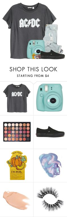 """""""he looked at me like i'm stupid...i'm not stupid"""" by arielforlife ❤ liked on Polyvore featuring H&M, Fujifilm, Morphe, Vans, Tony Moly and Too Faced Cosmetics"""