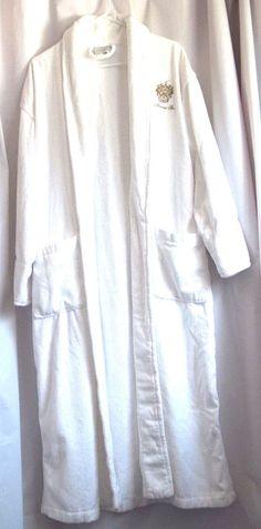 The Trump  Spa Robe Terry Cloth White Boca Terry Robe or Costume Trump Shield #BocaTerry #TrumpSpaRobe