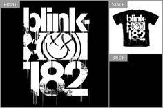 Blink 182 (Dripping Logo) T-shirt cid_4872TSBP