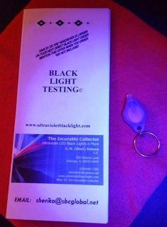 Fluorescent Minerals Crystal Display Specimens Rocks mini UV Black Light  Pinch