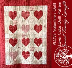 #LOVE Quilt | Free Layer Cake Quilt Pattern – Sunset Family Living