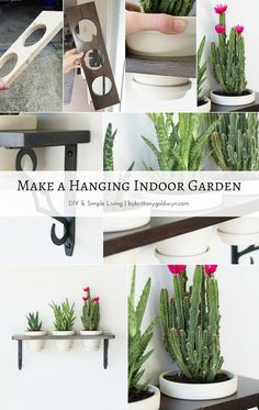 Hanging Indoor Garden Learn how to make this pretty little hanging indoor garden and turn your plants into wall decor!Learn how to make this pretty little hanging indoor garden and turn your plants into wall decor! Hydroponic Gardening, Container Gardening, Gardening Tips, Indoor Gardening, Organic Gardening, Hanging Plants Outdoor, Indoor Plants, Hanging Gardens, Diy Hanging