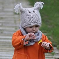 Knitting: Owl hat 'Chouette' knitting pattern