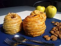 Puff Pastry covered apple. Hojaldre de manzana