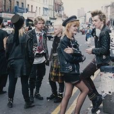 Where there 39 s punks there 39 s brass vivienne westwood left with what look like fashion models Rock and fashion style originating in seattle
