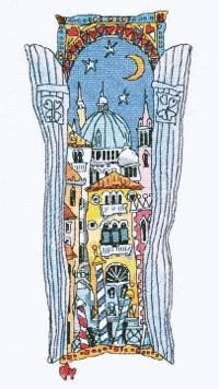Venice Window 4 from the Michael Powell cross stitch range.  Have stitched this kit