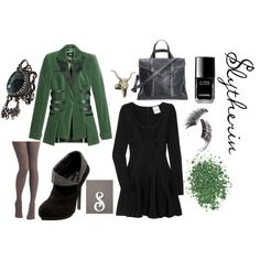 slytherin, created by piperpoppy on Polyvore