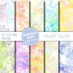 Swirl Paper, Digital Swirls, Marble Paper, Pastel Marble, Marble Backgrounds, Printable, Commercial Use. Pastel colors swirled together, each of these digital swirl papers is different and unique. Comes in light pink, orange, yellow, green, blue, and purple. Great for scrapbooking, craft projects, card making, invitations, backgrounds, and more.  LOVIN THESE COUPON CODES: Buy 5 Get 2 Free: FREE2 Buy 10 Get 5 Free: FREE5 Buy 20 Get 15 Free: FREE15   =======&#...