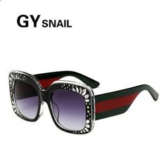 937d60486b644 Vintage Sunglasses Trends -  FASHION  NEW GY SNAIL Oversized square  Sunglasses women Vintage Sunglass