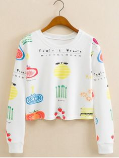 GET $50 NOW | Join RoseGal: Get YOUR $50 NOW!http://www.rosegal.com/sweatshirts-hoodies/fruits-figure-cropped-long-sleeve-661078.html?seid=6990270rg661078