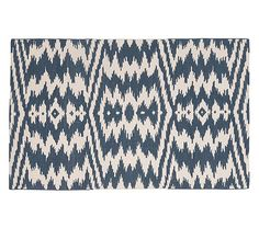 Navy Ikat Rug - would LOVE to see this in a nursery!
