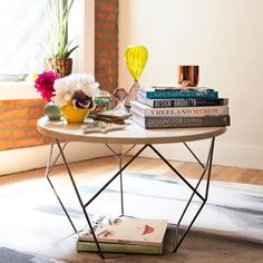 Coffee table styling inspiration.