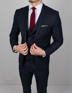 Best Suits For Men, Cool Suits, Blazer Outfits Men, Dark Blue Suit, Black Suit Men, Designer Suits For Men, Slim Fit Suits, 3 Piece Suits, Well Dressed Men