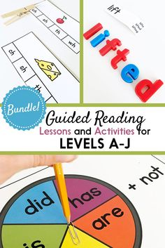 Having my guided reading binders all set up is SUCH a time saver! These guided reading packs include printable books, guided reading lesson plans, phonics activities, and more. Guided Reading Binder, Guided Reading Lesson Plans, Guided Reading Activities, Reading Groups, Kindergarten Reading, Kindergarten Classroom, Phonics Lessons, Phonics Activities, Kids Learning Activities