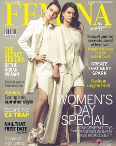 It's a first! #KanganaRanaut and sister #RangoliChandel on the cover of Femina's Women's Day special.  @feminaindia #femina #feminaindia #magazinecover #bollywoodmagazines #celebritymagazine #bollywoodmagazinecover #magazine #magazineshoot #photooftheday #celebrity #photoshoot #bollywood #bollywoodactress #actress #model #covergirl #bollywoodfashion #fashion #picoftheday #instadaily #instagood #like4like #followus #filmywave