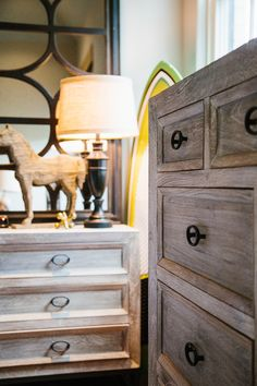 we LOVE the distressed look of this chest of drawers!