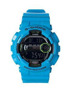 13bb1adb3e1 G-SHOCK MENS GD-100 SERIES LAP MEMORY 60 WATCH Blue Relógios Legais