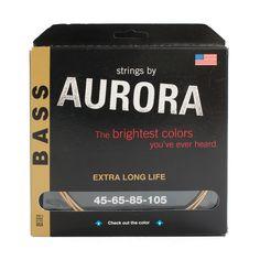 Aurora Coloured Bass Guitar Strings – Fretfunk. Black Bass Strings now in stock www.fretfunk.co.uk