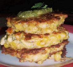 Zucchini Cakes with Tomatillo Cilantro Salsa