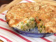 Chicken Pot Pie with Herb and Cheddar Crust  Absolutely mouth watering