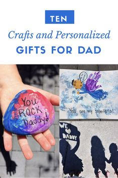 10 Father's Day Crafts for Kids is part of Quick Kids Crafts Parents - Father's Day will be here before you know it! Here are 10 quick and easy crafts your kids can do for Dad to make Father's Day extra special this year! Diy Gifts For Kids, Crafts For Kids To Make, Fun Crafts, Arts And Crafts, Personalized Gifts For Dad, Quick And Easy Crafts, Fathers Day Crafts, Toddler Crafts, Toddler Stuff