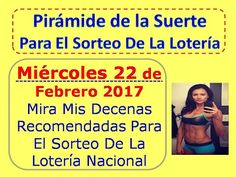 Piramide de la Suerte Decenas Sorteo Miercoles 22 de Febrero 2017 Loteria Nacional Panamá Febrero 22