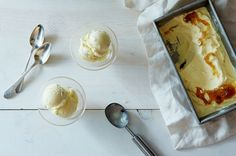Goat Cheese Ice Cream with Honey and Fig Jam, a recipe on Food52