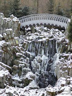 Kassel, Teufelsbrücke in Eis Fotografin Anja Weinhold  - Pixymania.de.to -