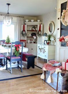 Hymns and Verses: 2014 Christmas Home Tour great inexpensive looks