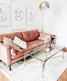 Hold current with the latest small living room decor some ideas (chic & modern). Find excellent ways to get trendy style even if you have a small living room. Decoration Chic, Lampe Decoration, Cute Dorm Rooms, Cool Rooms, Retro Home Decor, Rooms Home Decor, Modern Decor, Living Room Sofa, Living Room Decor