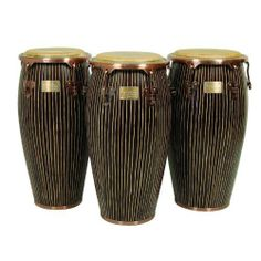 "12 1/2"" Master Handcrafted Pinstripe Conga w/ Stand by Tycoon. $499.00. This listing is for one 12 1/2"" Conga Drum w/ Stand - Available in 4 sizesAs the name suggests, these drums are hand-carved by highly-skilled craftsmen, resulting in their unique and beautiful appearance. No two drums will look exactly the same! Today, Tycoon Percussion is well-established throughout the world as a leading manufacturer of percussion products, and is the only hand percussion com..."