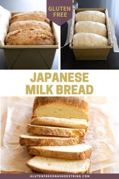 This super simple recipe for gluten free Japanese milk bread makes the softest recipe for batter-style gluten free bread youve ever seen or tasted! This bread is perfect for any use! I love to use it for sandwiches! Gluten Free Donuts, Gluten Free Desserts, Gluten Free Recipes, Gluten Free Japanese Recipes, Good Gluten Free Bread Recipe, Vegan Recipes, Patisserie Sans Gluten, Dessert Sans Gluten, Gluten Free Cooking
