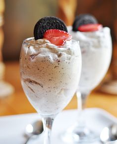 pretty much dirt pudding with strawberries!