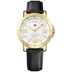 Tommy Hilfiger White Watch for Women - - Helios Watch Store Sport Watches, Watches For Men, Tommy Hilfiger Watches, Wow Products, Other Accessories, Jewelry Watches, Black Leather, Liv, Stay Gold