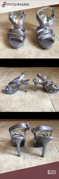 Silver The Touch of Nina Heels Silver heels perfect for homecoming or prom. Only worn once, only signs of wear are on the bottom. Accepting reasonable offers! The Touch of Nina Shoes Heels
