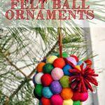 Holly Jolly Felt Ball Ornaments