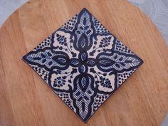 Blue ceramics, city of Salé, Morocco